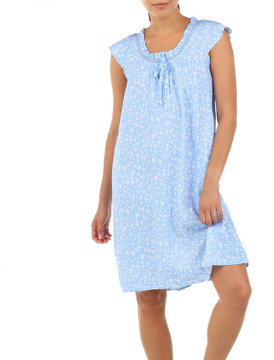 Mathilda Blue Flutter Nightie