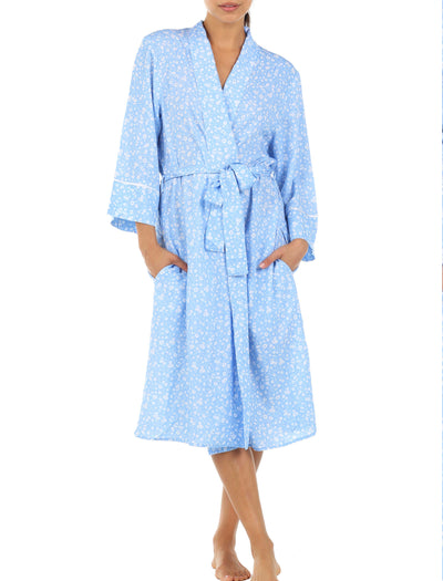 Mathilda Blue Mid-Length Robe