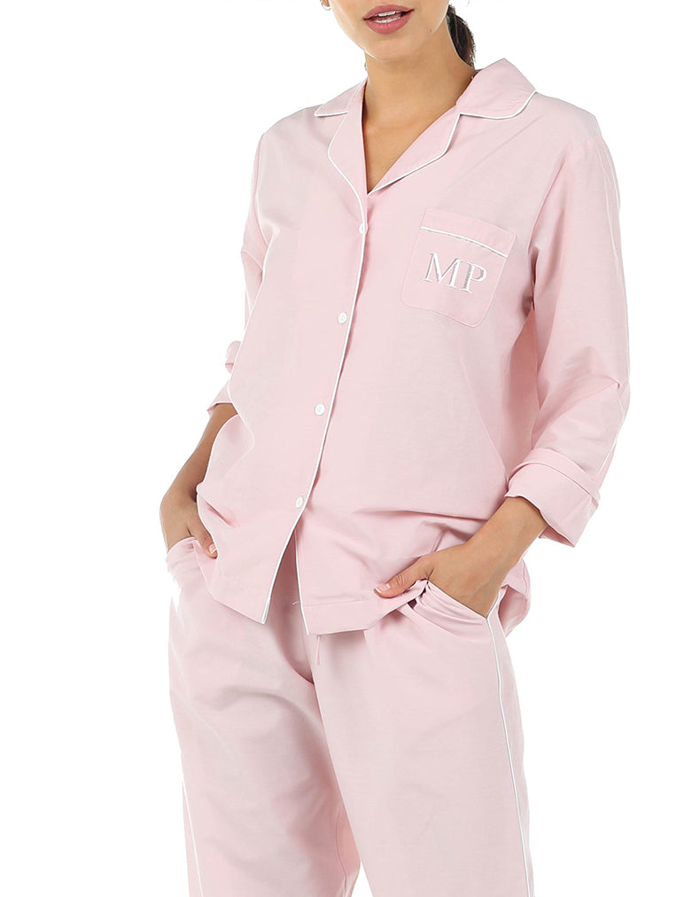 Mia Luxe PJ Set in Pink
