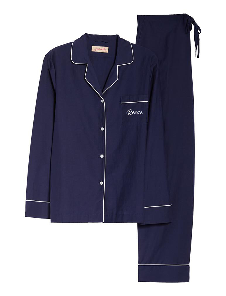 Mia Luxe PJ Set in Navy