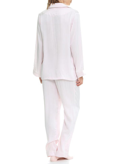 Ice Pink Silk Pyjamas Back