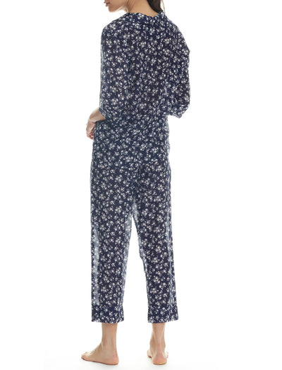 Potager Navy Crop Pyjama Set