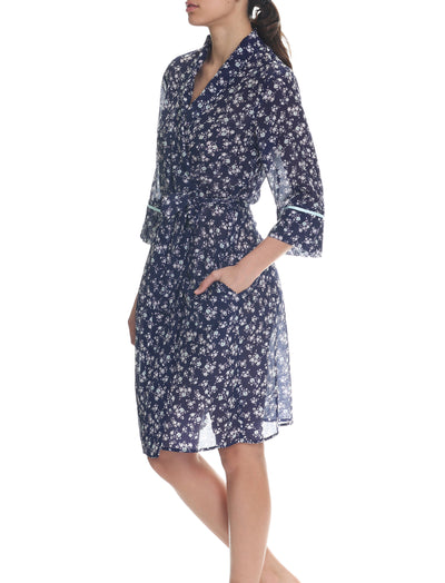 Potager Navy Mid Length Robe