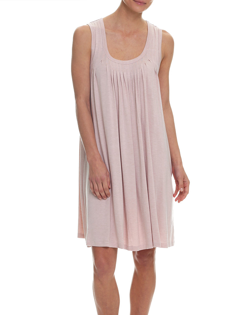 Modal Pleat Front Nightie, Rosewater