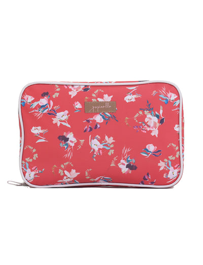 Ruby Jean Red Large Fold Out Cosmetic Bag