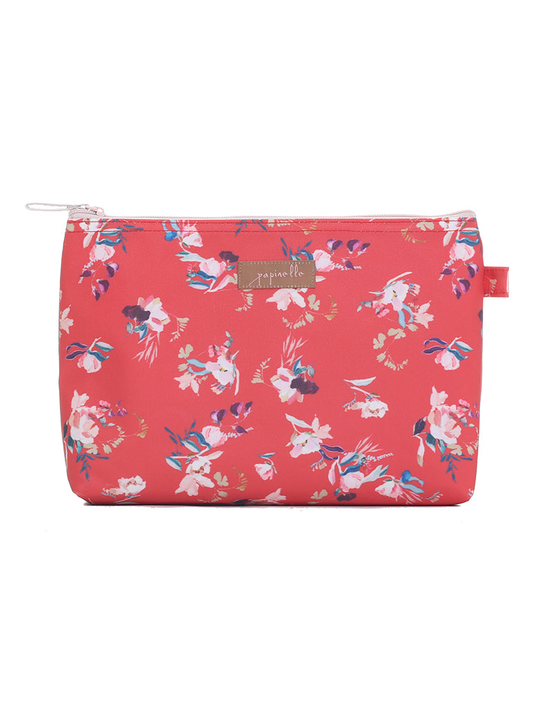 Ruby Jean Red Medium Cosmetic Bag