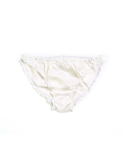 Silk Hearts Knicker in Ivory