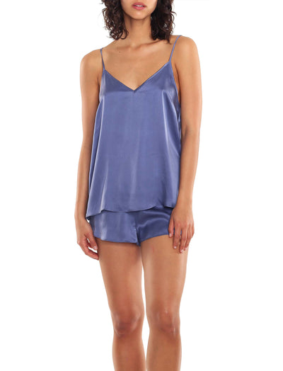 Washable Silk Camisole Boxer Indigo