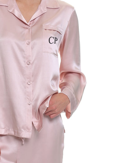 Washable Silk Pyjamas in Rose Personalised