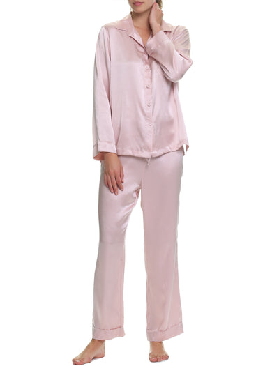 Washable Silk Pyjamas in Rose