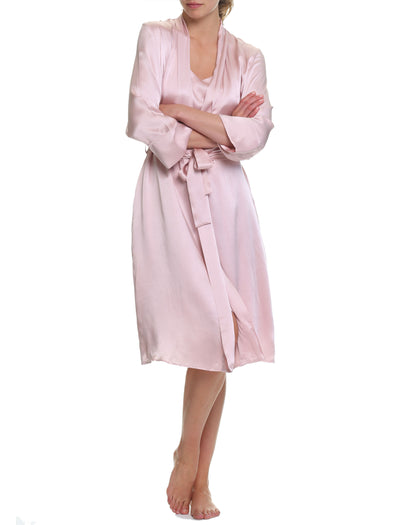 Washable Silk Robe, Rose
