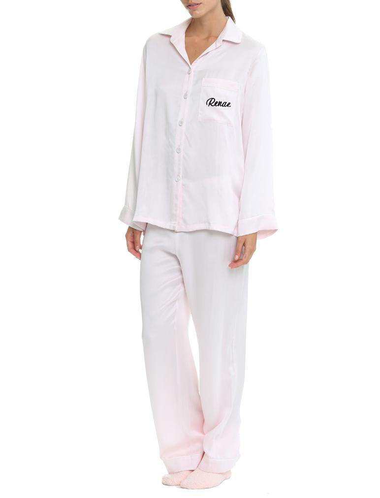 Pure Silk Pyjamas, Ice Pink
