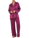 Washable Silk Piped PJ in Prune
