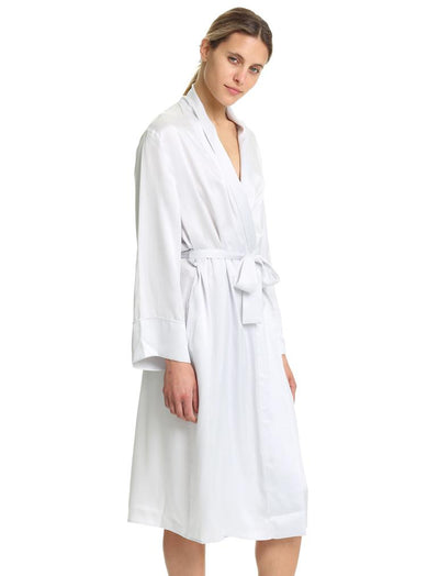 Dove Grey Pure Silk Long robe
