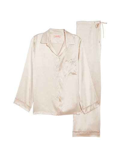Romance Luxury Silk Pyjamas Detail