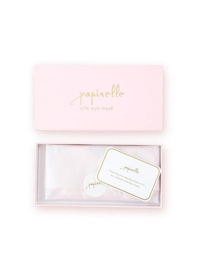 Boxed Silk Eye Mask in Light Pink
