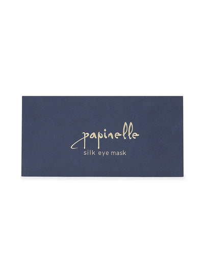 Pure Silk Eye Mask in Navy