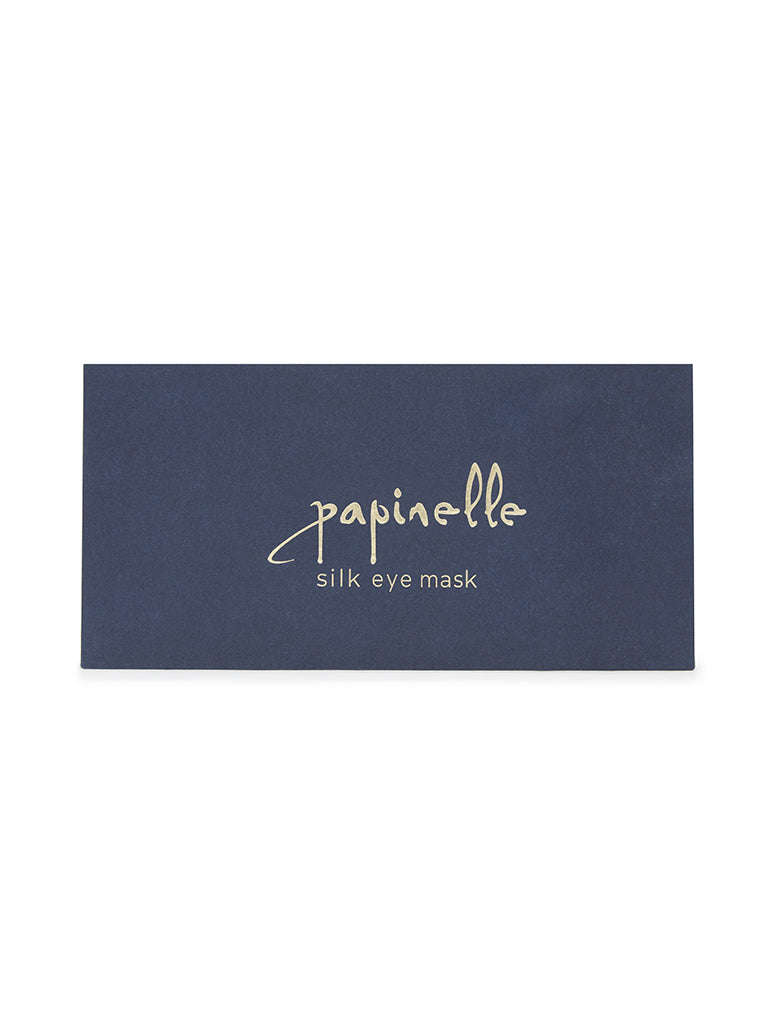 Boxed Silk Eye Mask in Navy