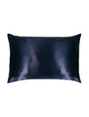 Navy Boxed Silk Pillow Slip