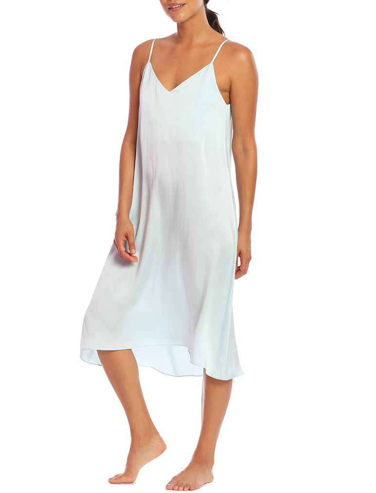 Pure Silk Slip Nightie in Sage