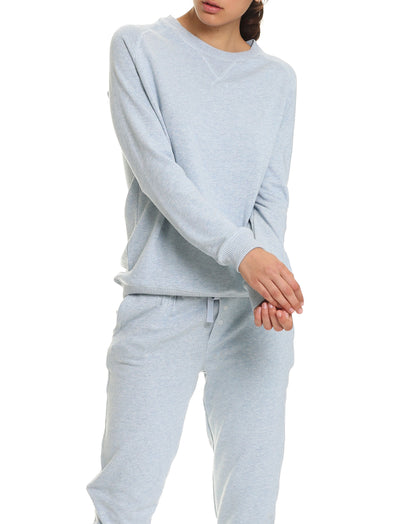So Soft Fleecy Pullover, Dusty Blue
