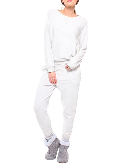 So Soft Long Lounge Pants in Grey Marl
