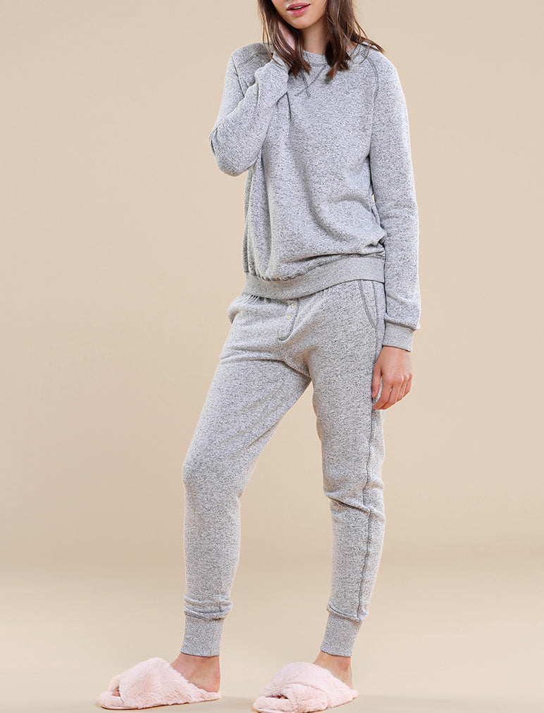 So Soft Fleecy Narrow Loungepants, Charcoal