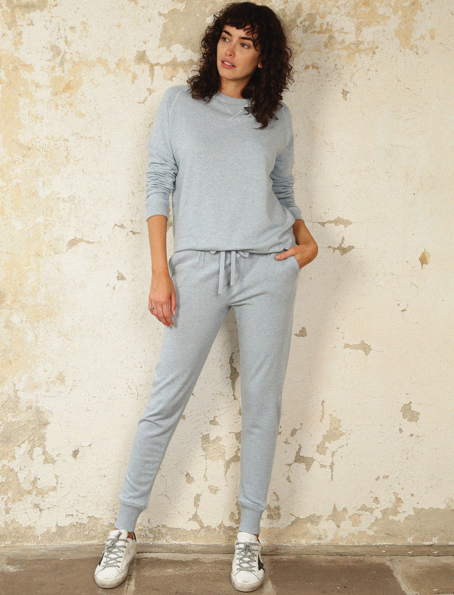 So Soft Fleecy Narrow Loungepants, Dusty Blue