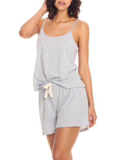 Organic Cotton Camisole Grey Tucked