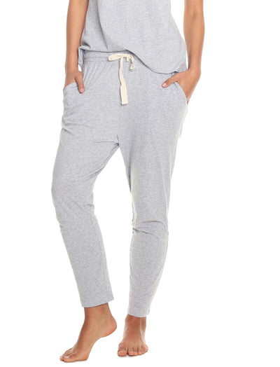 Organic Cotton Lounge Pants Grey with Pocket