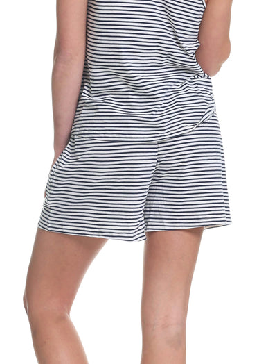 Organic Cotton Stripe Boxer Short Back