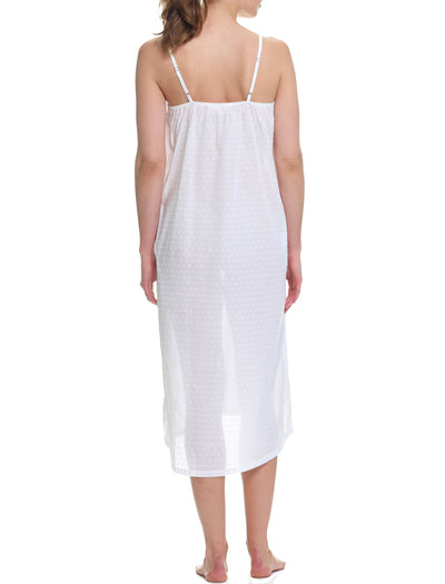 Swiss Dot Maxi Strappy Nightie White