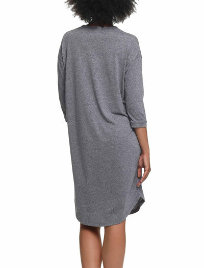Unwind Nightie, Grey Marl