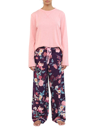 Violaine Prune Pant and Organic Cotton Long Sleeve Top Set