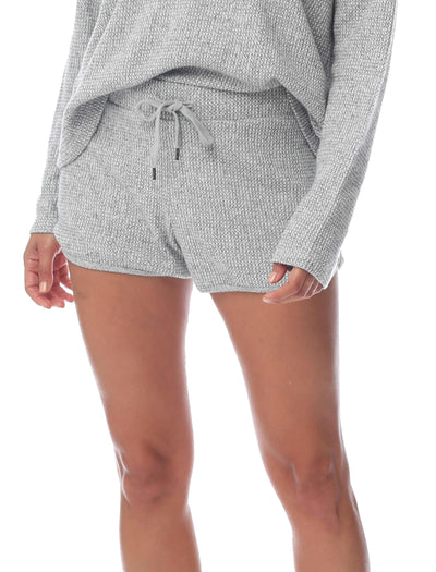 Super Soft Waffle Short in Grey