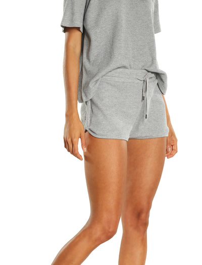 Organic Cotton Summer Waffle Boxer in Grey