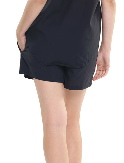 Whale Beach Black Boxer Short Back