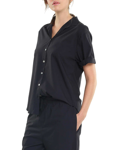Whale Beach Black Lounge Shirt Side