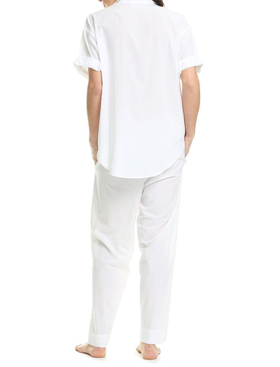 Whale Beach PJ Pant in White