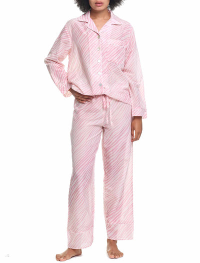 Zebra Pink Full Length PJ