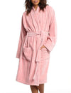 Short Towelling Robe Pink