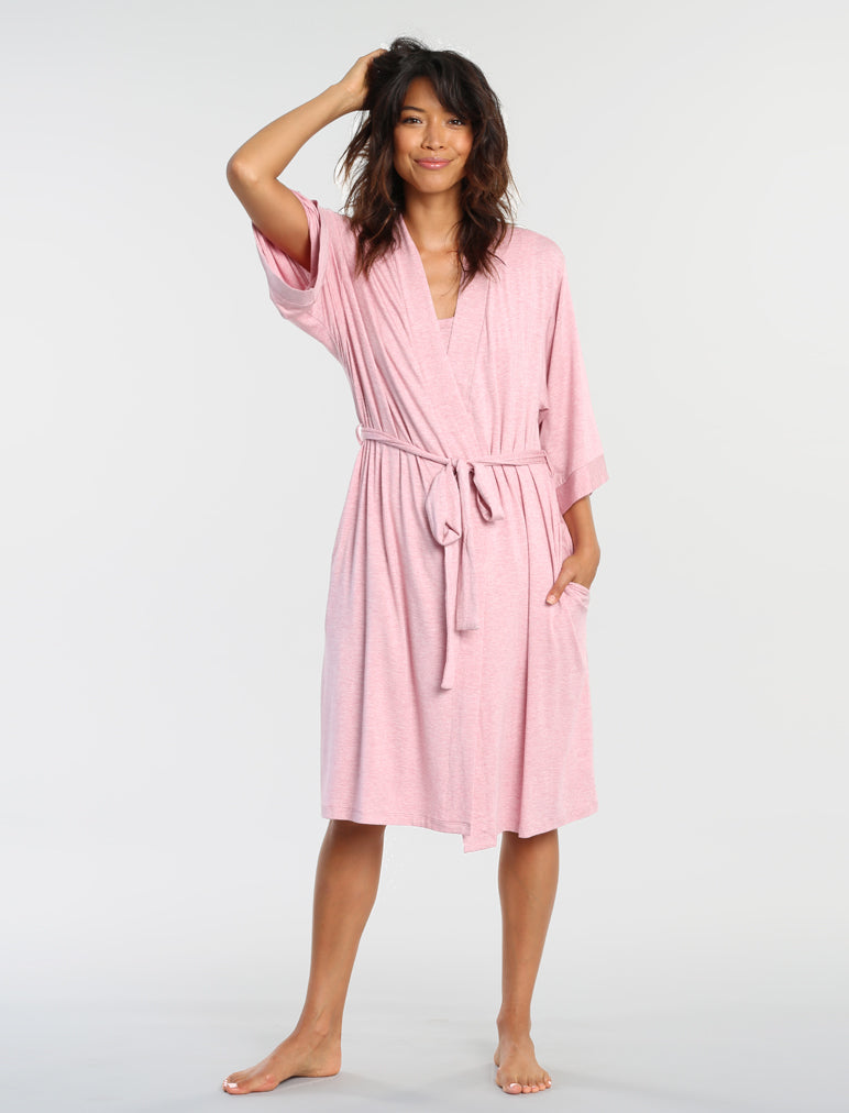 Modal Robe Dusty Pink