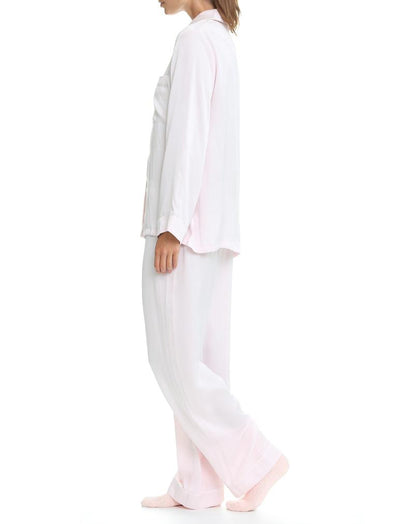 Ice Pink Silk Pyjamas Side