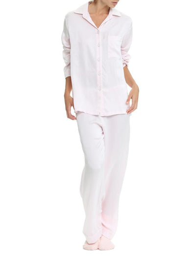 Ice Pink Silk Pyjamas Relaxed