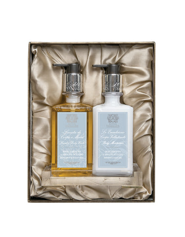 Acrylic Bath & and Body Gift Set: Bergamot & and Ocean Aria