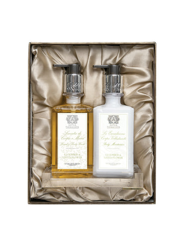 Acrylic Bath & and Body Gift Set: Cucumber & and Lotus Flower
