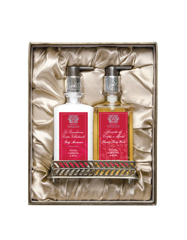 Nickel Bath & and Body Gift Set: Peonia, Gardenia & and Rosa