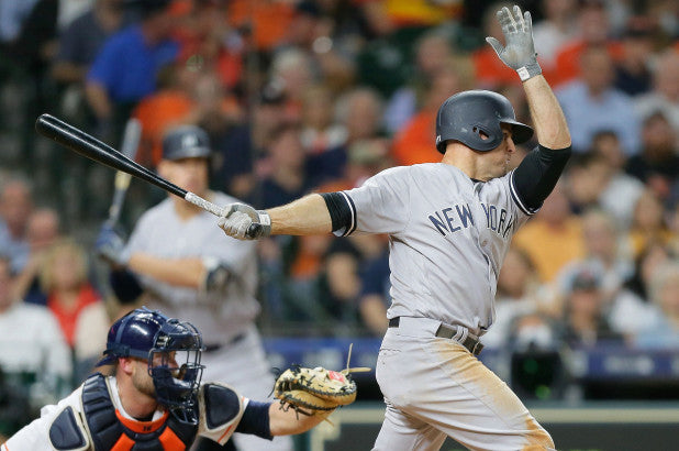 Brett Gardner hasn't been playing much vs. lefties