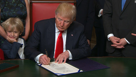 Donald Trump | Right Handed Signing | Lefties Only