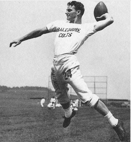 Ernie Case | Left Handed Quarterback | Photo Credit: Football in Baltimore: History and Memorabilia from Colts to Ravens